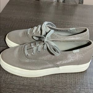 Grey Keds with silver shimmer